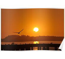 Sunset in Garibaldi Poster