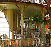 Front porch, The Oaks B&B by Gordon Taylor