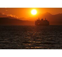 Puget Sound at Sunset Photographic Print