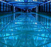 Airport Reflections (Blue) by Valerie Rosen