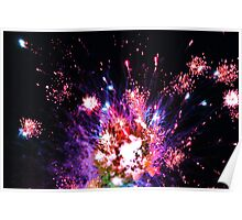 explosion in space Poster