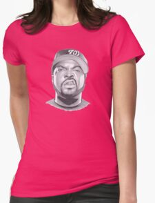ice cube drawing Womens Fitted T-Shirt