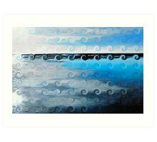 Blue Alter Ego 5 Art Print