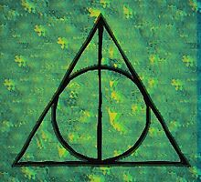 Green Deathly Hallows by greenearthhippi
