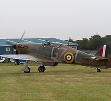 Spitfire at Commemoration of The Hardest Day took place at Biggin Hill Airport 2015 by Keith Larby