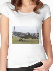 Spitfire at Commemoration of The Hardest Day took place at Biggin Hill Airport 2015 Women's Fitted Scoop T-Shirt