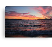 Pink Clouds & Rolling Waves Canvas Print