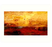 Abstract Colors Oil Painting #10 Art Print