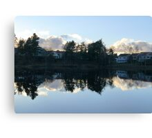 Swedish Suburb Canvas Print
