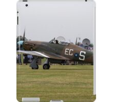 Spitfire at Commemoration of The Hardest Day took place at Biggin Hill Airport iPad Case/Skin