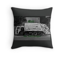DSNY Garbage Truck photo #2 Throw Pillow