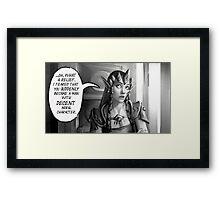 Sassy Zelda Framed Print