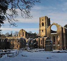 Fountains Abbey in Winter by andyessex