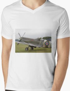 Spitfire at Commemoration of The Hardest Day took place at Biggin Hill Airport Mens V-Neck T-Shirt