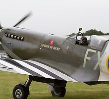 Spitfire at Commemoration of The Hardest Day which took place at Biggin Hill Airport by Keith Larby