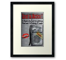 Classic Old vintage dirty dusty Walkman Framed Print