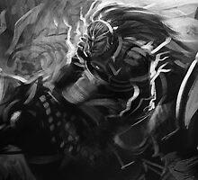 Ganondorf on his Horse by GildedPixel