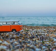Orange the mini hippie bus by monicamarcov