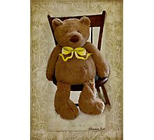 Storybook Teddy Bear with a Ribbon Photographic Print