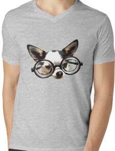 Funny Chihuaua Mens V-Neck T-Shirt