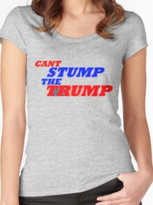 Can't Stump The Trump Text Only Women's Fitted Scoop T-Shirt