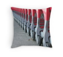 Waiting Shopping Carts Throw Pillow