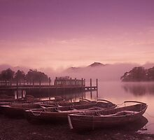 Misty boats at dawn by Zoë Power