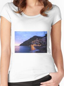 Positano Italy Women's Fitted Scoop T-Shirt