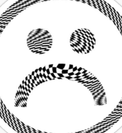 Sad Face #4 b Sticker