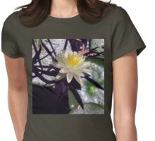 Water lily and shadows Womens Fitted T-Shirt