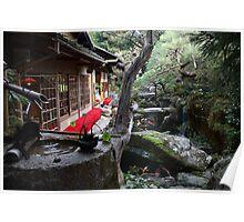 Tea garden in Japan Poster