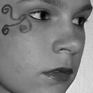 B&W Face close-up by Chanzz