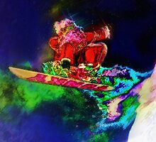 Screw Reindeer, I'm Going Snowboarding by David Rozansky