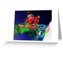 Screw Reindeer, I'm Going Snowboarding Greeting Card