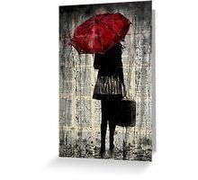 feels like rain Greeting Card