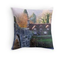 Cottage Tea Rooms, Llanrwst Throw Pillow