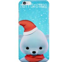 Polar Christmas Bear card iPhone Case/Skin