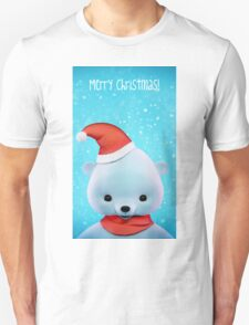 Polar Christmas Bear card Unisex T-Shirt