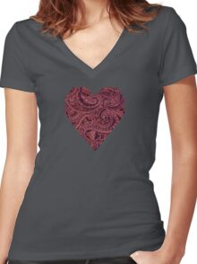 Paisley Pals  Women's Fitted V-Neck T-Shirt