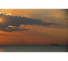 Morning's First Freighter Photographic Print