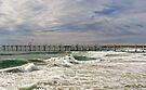 Letitia Beach & sand pumping jetty, Fingal NSW by Odille Esmonde-Morgan