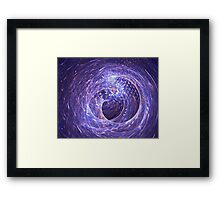 Abstract purple tunnel with gold moneys Framed Print