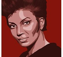 Uhura from TOS Star Trek (stylized) by shannon-rose