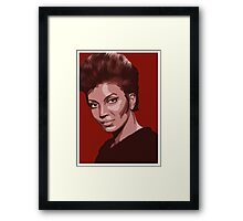 Uhura from TOS Star Trek (stylized) Framed Print