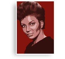 Uhura from TOS Star Trek (stylized) Canvas Print