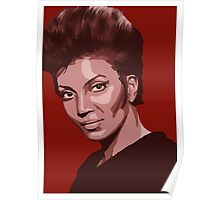 Uhura from TOS Star Trek (stylized) Poster