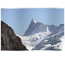 Swiss Alps paraglider Poster