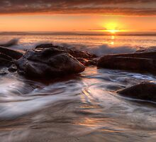 Early Morning at Hinsby Beach, Tasmania #5 by Chris Cobern