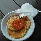 Caviar on pancake by karina5