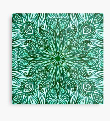 - Emerald pattern - Metal Print
